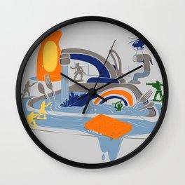Sink Sank Sunk Wall Clock
