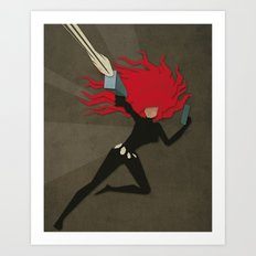 Paper Heroes - Black Widow2 Art Print