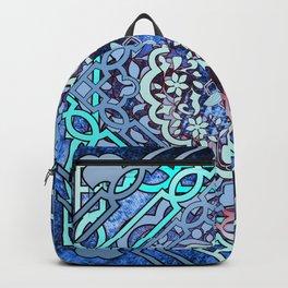 blush Turkish vintage in dark blue grunge Backpack