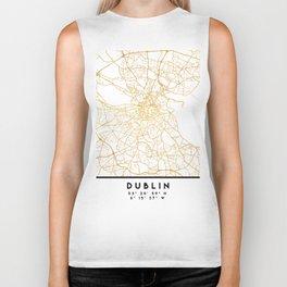 DUBLIN IRELAND CITY STREET MAP ART Biker Tank