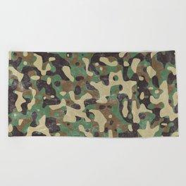 Distressed Army Camo Beach Towel