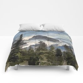The Three Sisters - Canadian Rocky Mountains Comforters
