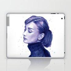 Audrey Hepburn Watercolor Portrait Laptop & iPad Skin