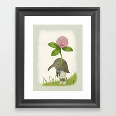 Little Elephant and the Dandyflower Framed Art Print