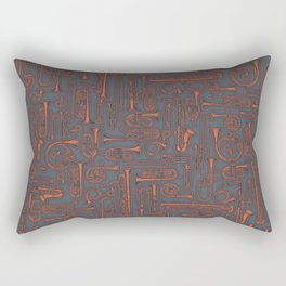 Horns COPPER Rectangular Pillow