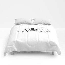 Hearbeat Of A Fisherman Heartrate Fishing Hobby Comforters