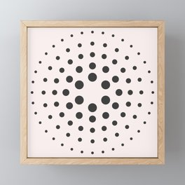 MidCentury Modern Bubblegum Spiral Dots Framed Mini Art Print
