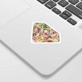 Vintage Retro flower pattern old fashioned Sticker
