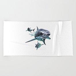 Great White Sharks Beach Towel
