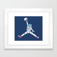 Space dunk Framed Art Print