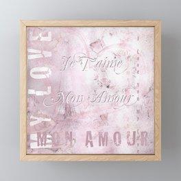 Je t'aime mon Amour Framed Mini Art Print