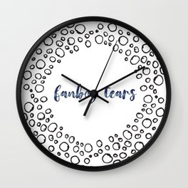 fanboy tears Wall Clock