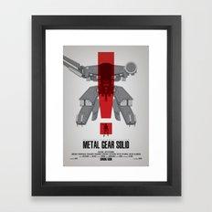 Metal Gear Solid Movie Poster Framed Art Print