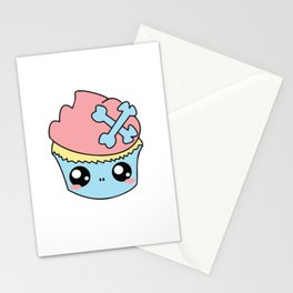 Cupcake Skull Stationery Cards
