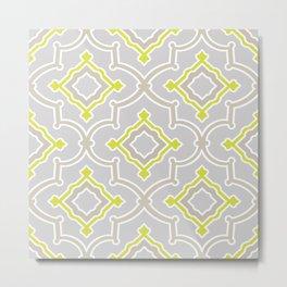 Moroccan Vibes | Bohemian Eclectic Pattern | Gray Metal Print