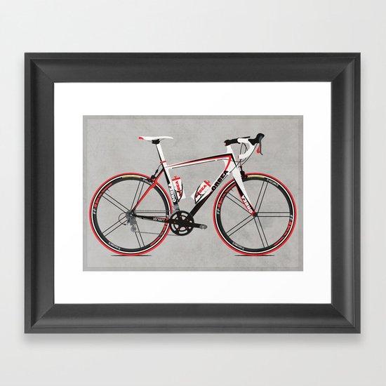 Race Bike Framed Art Print