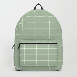 Long Grid Horitzontal Green Backpack