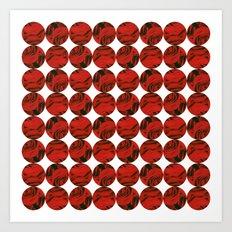Roses (red) Art Print