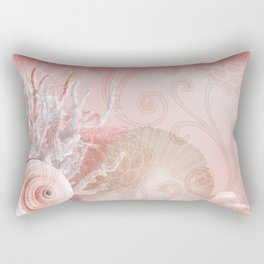 SEASHELL DREAMS   pink Rectangular Pillow