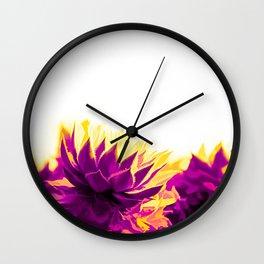 Purple and Yellow Houseleeks Wall Clock