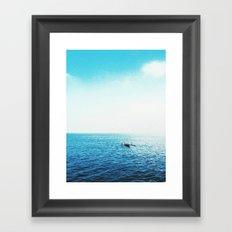 Another through the seasky Framed Art Print
