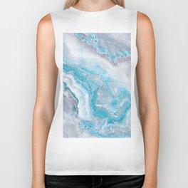 Ocean Foam Mermaid Marble Biker Tank