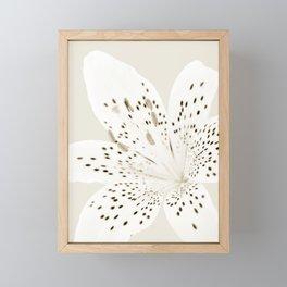 Sepia Lily Close-up Framed Mini Art Print