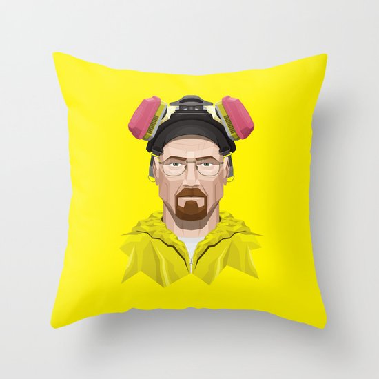 Breaking Bad - Walter White in Lab Gear Throw Pillow