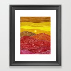 Lines in the mountains IX Framed Art Print