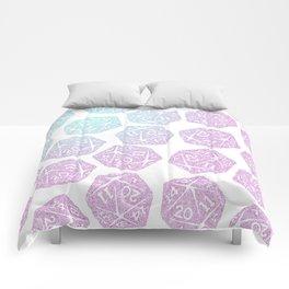 d20 pattern dice gradient pastel Comforters