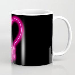 Melting Neon Heart Coffee Mug