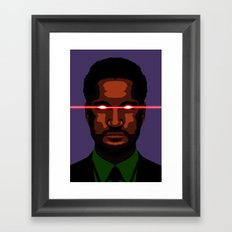 evil businessman  Framed Art Print