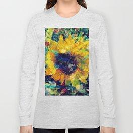 Sunflower Batik Long Sleeve T-shirt