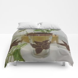 Coleus Plant (Hand-painted set of three glasses) Comforters