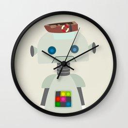 Retro Robot Robo Fashionista Wall Clock