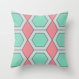 Pastel Geo Throw Pillow