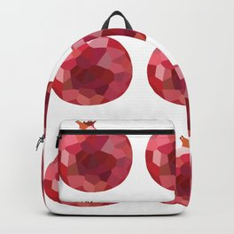 pomgranate 3x3 pattern, fill, repeating, tiled | elegant Backpack