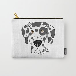 Harlequin Great Dane Face Carry-All Pouch