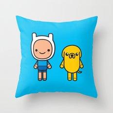 #48 Jake and Finn Throw Pillow