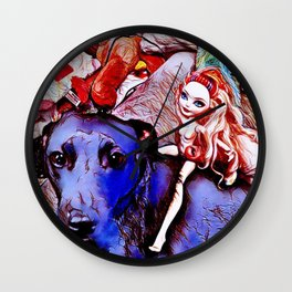 """""""Barbarella's Last Ride"""" Wall Clock"""