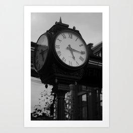 Clock In Toronto's Distillery District Art Print