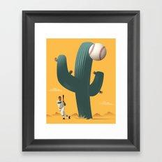 Cactus League Framed Art Print