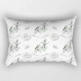 Slytherin Toile Rectangular Pillow