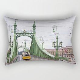 Yellow Tram in Budapest Rectangular Pillow