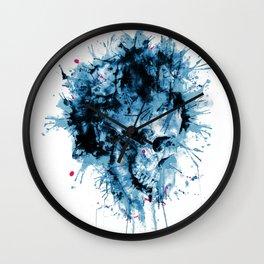 Skull Splash Wall Clock