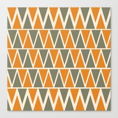 Green And Orange Triangles  Canvas Print