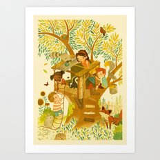 Our House In the Woods Art Print