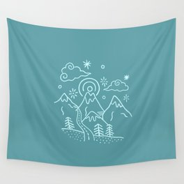 Mountains So Blue Wall Tapestry