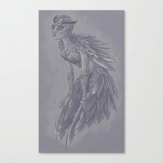 Owl Girl Canvas Print