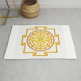 Sri Yantra - Golden Yellow Rug
